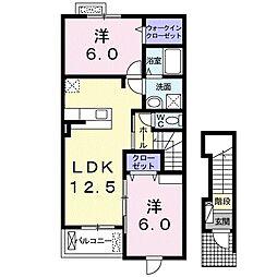 プロムナードTY[2階]の間取り