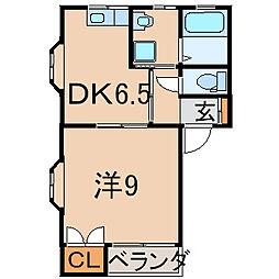 サクマハイム田町[1階]の間取り