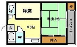 兵庫県神戸市東灘区御影本町5丁目の賃貸マンションの間取り