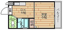 プレステージ堂島[6階]の間取り