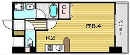 大阪府茨木市西豊川町の賃貸マンションの間取り