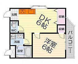 大阪府堺市西区草部の賃貸マンションの間取り