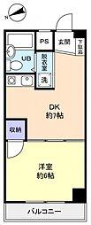 レジデンス松の木[4階]の間取り