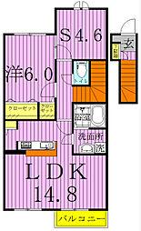 Villa Excel II 〜ヴィラエクセルII〜[207号室]の間取り