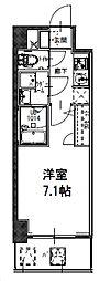 S-RESIDENCE大阪九条North 7階1Kの間取り