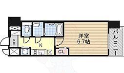 名鉄名古屋本線 名鉄名古屋駅 徒歩8分の賃貸マンション 8階1Kの間取り