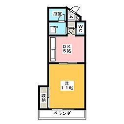 コウシンハイツ[1階]の間取り