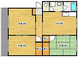土屋マンション[1階]の間取り