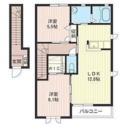 ラ・グランシューズE[2階]の間取り
