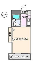ANNEX TAKAGI[104号室]の間取り