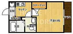 ボヌール嵐山[102号室号室]の間取り