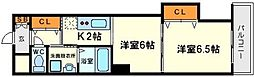 メゾンドゥミヤビ[6階]の間取り