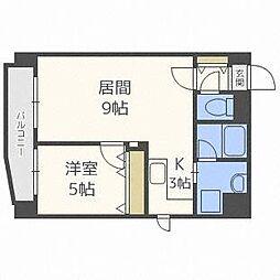 北海道札幌市中央区北六条西24の賃貸マンションの間取り