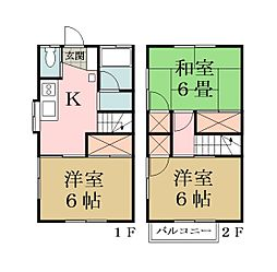 [テラスハウス] 埼玉県草加市清門3丁目 の賃貸【/】の間取り