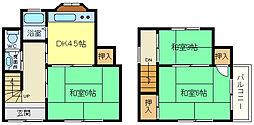 [一戸建] 兵庫県神戸市垂水区東垂水3丁目 の賃貸【兵庫県 / 神戸市垂水区】の間取り