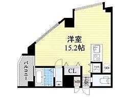 大阪モノレール本線 少路駅 徒歩7分の賃貸マンション 5階ワンルームの間取り