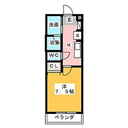 BlueWing鯉江本町[1階]の間取り