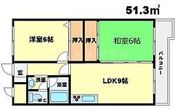 紙谷第2マンション[4階]の間取り