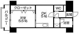 Kステーション大橋[802号室]の間取り