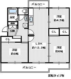 ヴィラナリー狭山 8号棟[304号室]の間取り