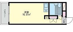 神奈川県川崎市幸区鹿島田2丁目の賃貸マンションの間取り