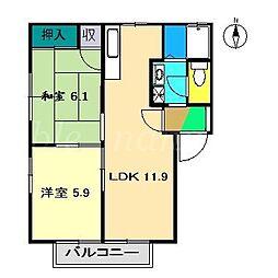 フォーレス弘石[2階]の間取り