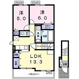 上野町アパート A棟[0201号室]の間取り