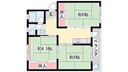 石守住宅[C12-305号室]の間取り