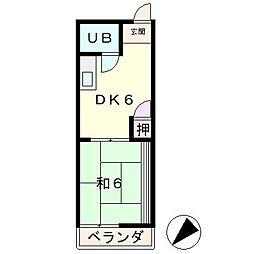 滋賀県草津市追分1丁目の賃貸アパートの間取り