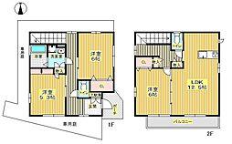 [一戸建] 大阪府豊中市桜の町5丁目 の賃貸【/】の間取り