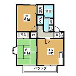 ハイカムール柧C[1階]の間取り