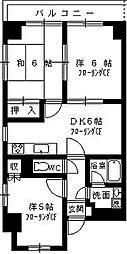 東京都足立区佐野2丁目の賃貸マンションの間取り