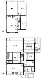 [一戸建] 静岡県浜松市西区志都呂町 の賃貸【/】の間取り