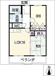 プレインエトワール[3階]の間取り