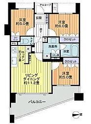 レクセルグランデ勝田台[5階]の間取り