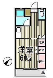 宮前アパート[15号室]の間取り