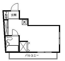 アックス横浜M・M[4階]の間取り