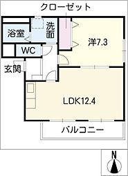 クリスタル円明[2階]の間取り