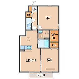 コーラルヴィラ松島II[1階]の間取り