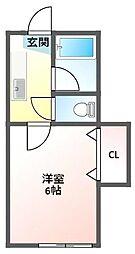 シャルムウエダ[2階]の間取り