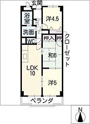 アメニティ・コーワ[4階]の間取り