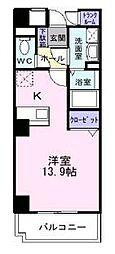 神奈川県藤沢市下土棚の賃貸マンションの間取り