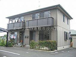 岡山県倉敷市四十瀬の賃貸アパートの外観