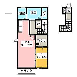 (仮)D-room松富[2階]の間取り