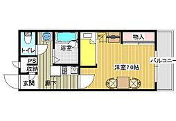 レオパレス富田林外環II[2階]の間取り