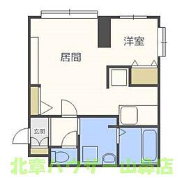 ブルースカイ札幌中央[4階]の間取り