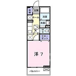 ポート泉佐野 B棟[1階]の間取り