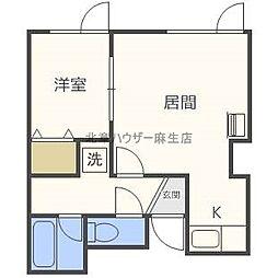 サンホームマンションみのしまB[2階]の間取り
