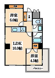 ライオンズマンション上本町第二[3階]の間取り