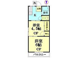 神奈川県横浜市鶴見区北寺尾1丁目の賃貸マンションの間取り